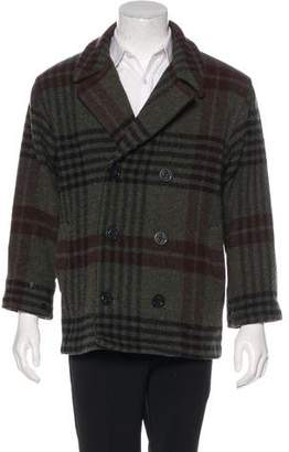 Woolrich Wool Double-Breasted Peacoat