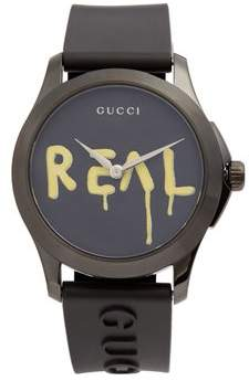 Gucci - G Timeless Rubber Watch - Mens - Black Multi