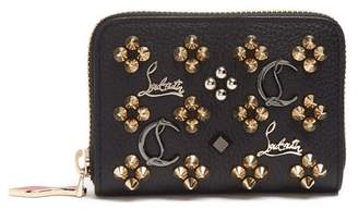 Christian Louboutin Panettone Loubisky Leather Coin Purse - Womens - Black Gold