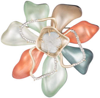 Alexis Bittar Abstract Color Block Flower Pin