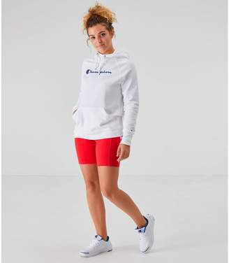 Champion Women's PowerBlend Fleece Script Pullover Hoodie