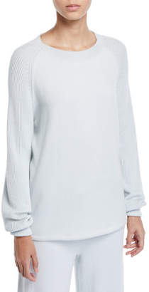 Vince Ribbed Raglan-Sleeve Crewneck Sweater