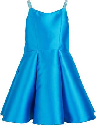 Zoe Jenna Matte Sateen Crystal-Strap Dress Size 4-6X