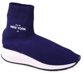 Joshua Sanders Fly To London High-Top Sock Sneakers
