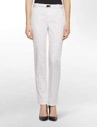 Calvin Klein essential skinny diamond grid belted pants