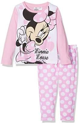 Disney Minnie Mouse Girl's Minnie Mouse Polka Dot Long Sleeve Pyjama Set,(Manufacturer Size: 5-6)