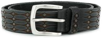 Orciani embroidered buckled belt