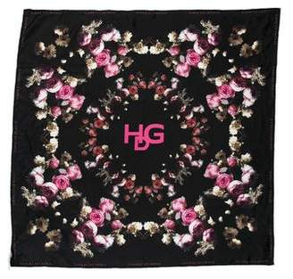 Givenchy Silk Floral Print Scarf w/ Tags