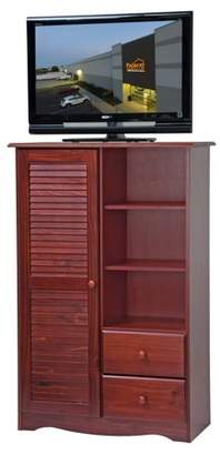 100% Solid Wood Door Chest by Palace Imports 5902, Mahogany