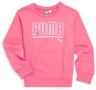 Puma Girl's Logo Crewneck Sweatshirt