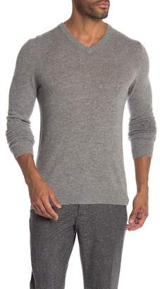 Autumn Cashmere V-Neck Rib Bottom Basic Cashmere Sweater