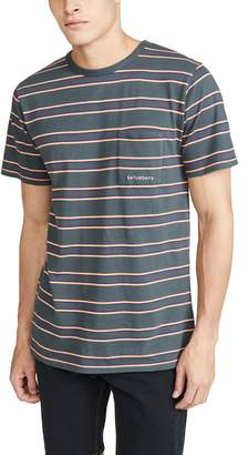 Saturdays NYC Randall Stripe Short Sleeve Tee