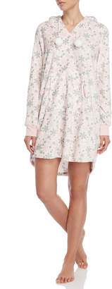 Pillow Talk Grey Fleece Plush Hooded Nightgown