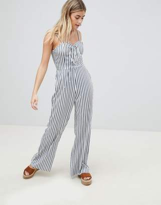 PrettyLittleThing Striped Jumpsuit