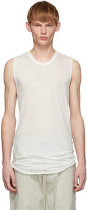 Rick Owens White Basic Tank Top