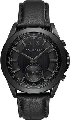 Armani Exchange A|X  Men's Quartz Stainless Steel and Leather Casual Watch, Color: (Model: AXT1009)