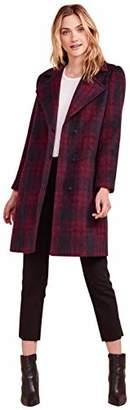 Cupcakes And Cashmere Women's Aldean Brushed Plaid Drape Front Coat