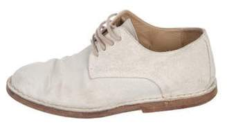 Ann Demeulemeester Suede Low-Top Oxfords