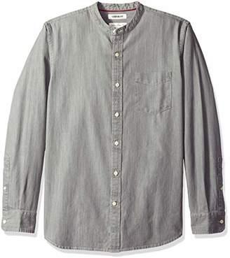 Goodthreads Men's Standard-Fit Long-Sleeve Band-Collar Denim Shirt