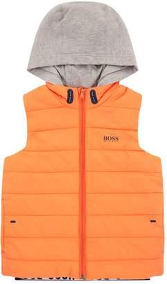 HUGO BOSS Jersey Hood Puffer Gilet