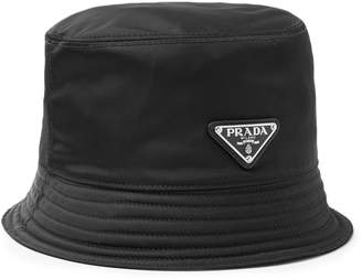 Prada Logo-Appliqued Nylon Bucket Hat