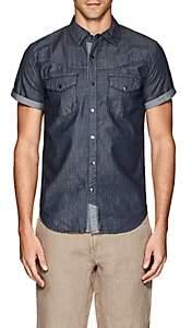Blank NYC Blanknyc Men's Cotton Chambray Shirt-Blue Size Xs