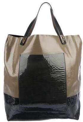 c1579e39a5a5 Balenciaga Patent Leather Large Pocket Tote
