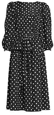 Marc Jacobs Women's Runway Polka Dot Peasant Dress