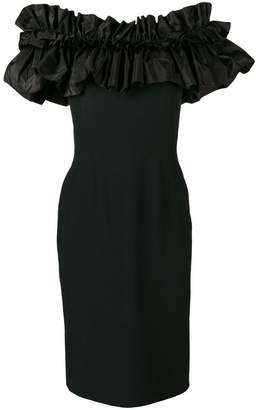 Alexander McQueen ruffled top fitted dress