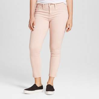 Mossimo Women's Jeans Curvy Jeggings Crop Pink - Mossimo $29.99 thestylecure.com