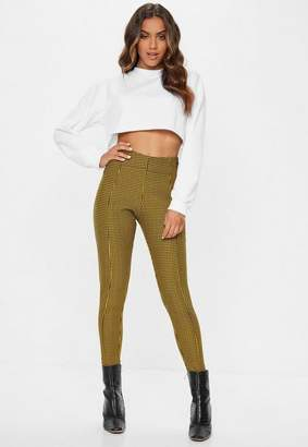 Missguided Yellow Check Leggings