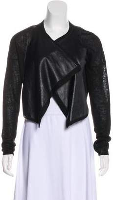 Dagmar Leather-Trimmed Cardigan