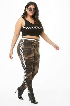 Forever 21 Plus Size Camo Print Track Pants