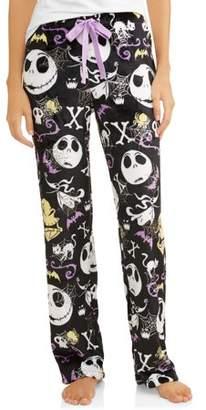NIGHTMARE BEFORE CHRISTMAS Jack Skellington Women's and Women's Plus Superminky Fleece Pajama Pant