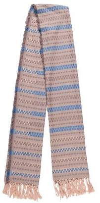 Inhabit Striped Cotton Scarf w/ Tags