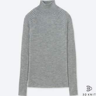 76202300b57 Uniqlo WOMEN 3D Extra Fine Merino Ribbed Mock Neck Sweater