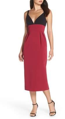 Jill Stuart Colorblock Midi Dress