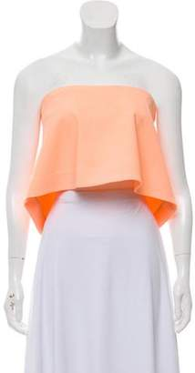 Elizabeth and James Strapless Flared Top Orange Strapless Flared Top