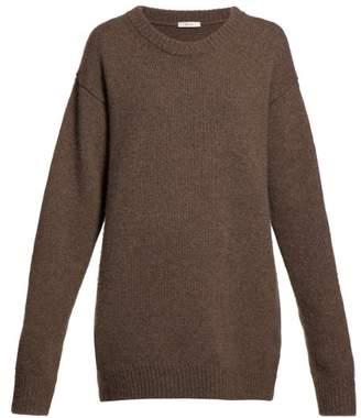 The Row Vaya Oversized Cashmere Sweater - Womens - Brown