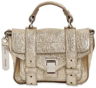 Proenza Schouler Ps1 Micro Crinkled Metallic Leather Bag