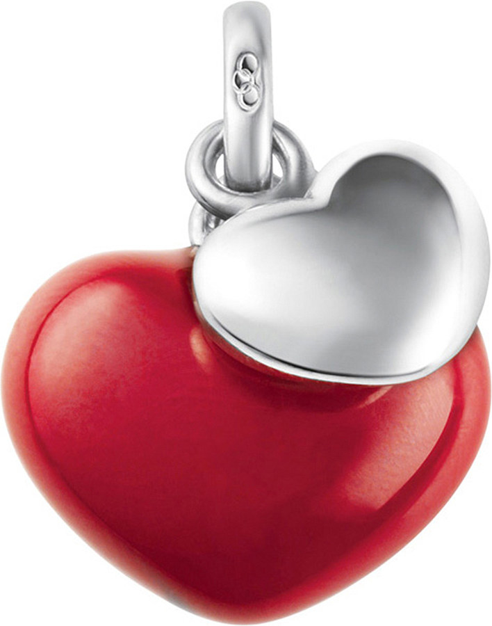 Links Of LondonLinks of London Two Hearts sterling silver and enamel charm