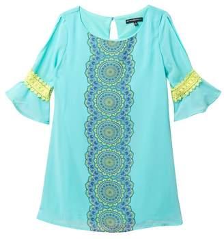 My Michelle mymichelle Peasant Bell Sleeve Dress (Big Girls)
