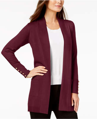 JM Collection Open-Front Cardigan