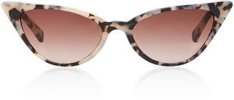 Cat Eye Kate Young Lita Tortoiseshell Cat-Eye Acetate Sunglasses