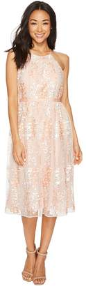 Maggy London Trailing Daisy Mesh Halter Dress Women's Dress