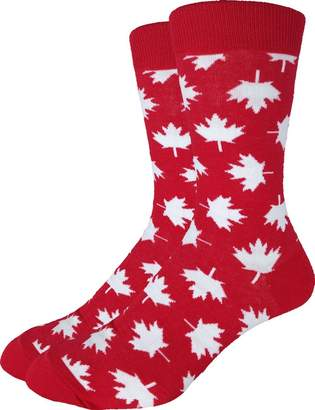 Good Luck Sock Men's Extra Large Canada Maple Leaf Socks, Size 13-17 Big & Tall