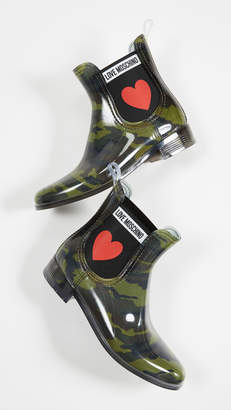 Moschino Love Rubber Chelsea Boots