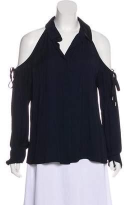 Cushnie et Ochs Cold-Shoulder Long Sleeve Blouse