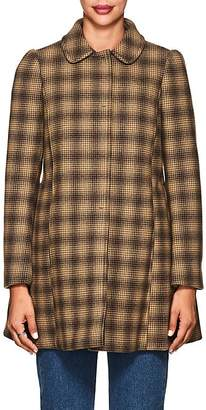 RED Valentino WOMEN'S PLAID WOOL-BLEND COAT