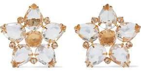 Gold-Tone Quartz Earrings